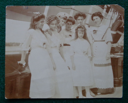 Antique Photo Tsar Nicholas II Romanov Children Imperial Russia Grand Duchess